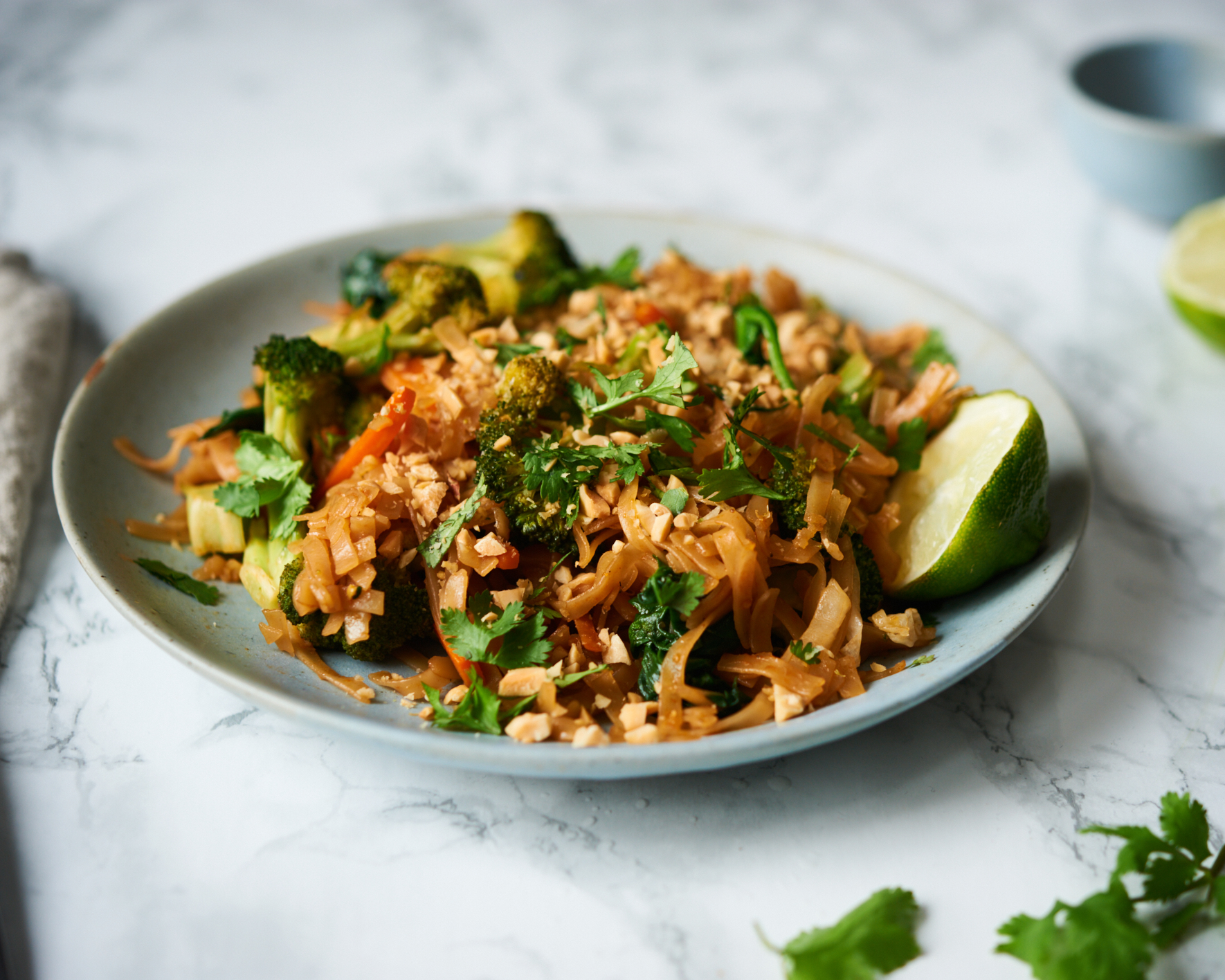 Make this recipe for vegan and gluten free pad thai.