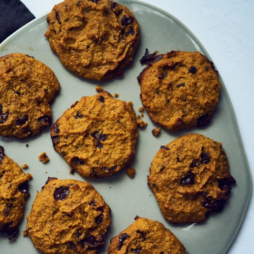 These pumpkin cookies are grain free and made with almond flour and almond butter. They are gluten fee and healthy for the paleo diet.