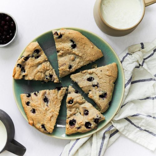 These blueberry scones are grain free and paleo and so delicious with lemon added.