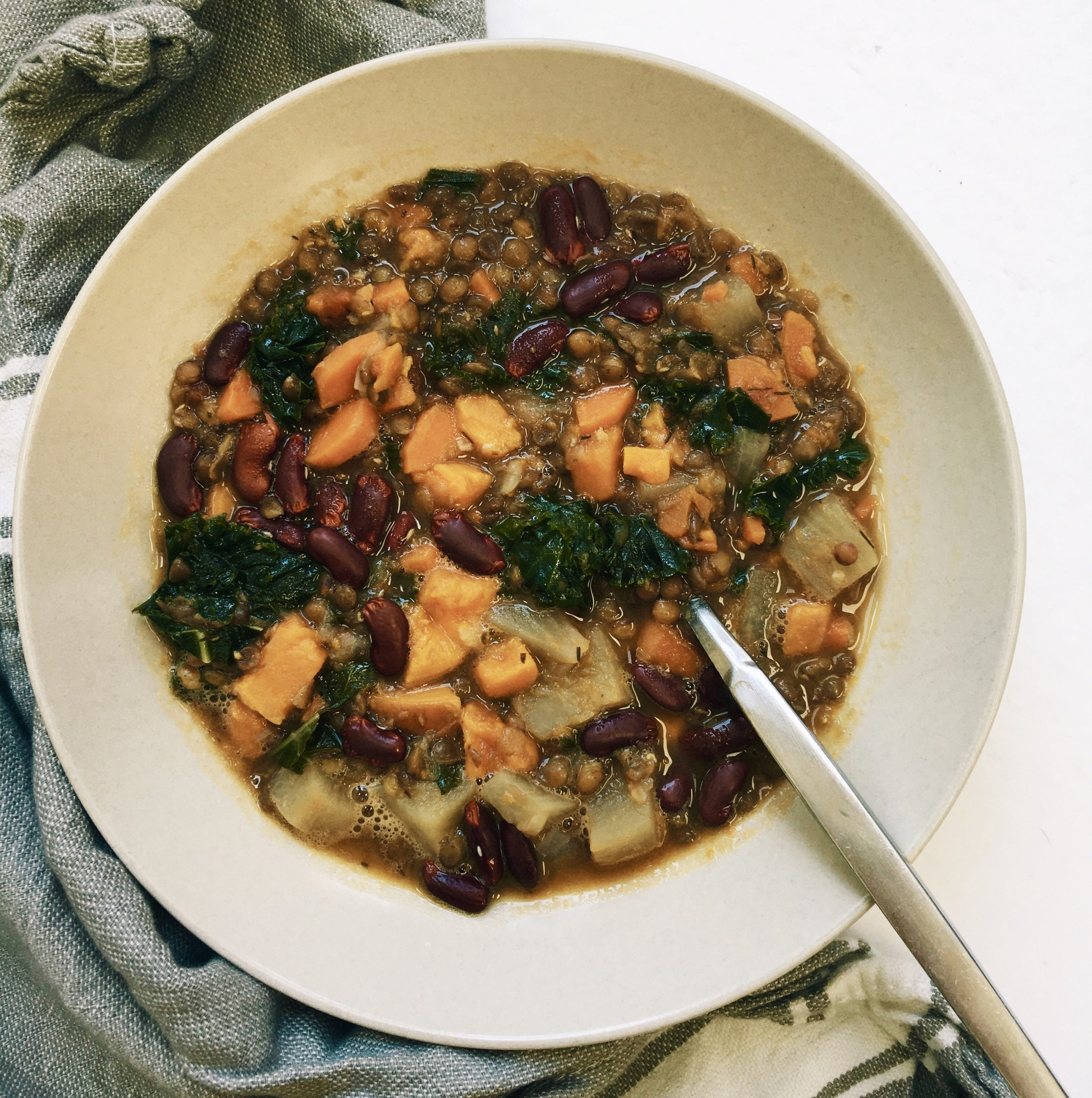 change of seasons lentil bean stew