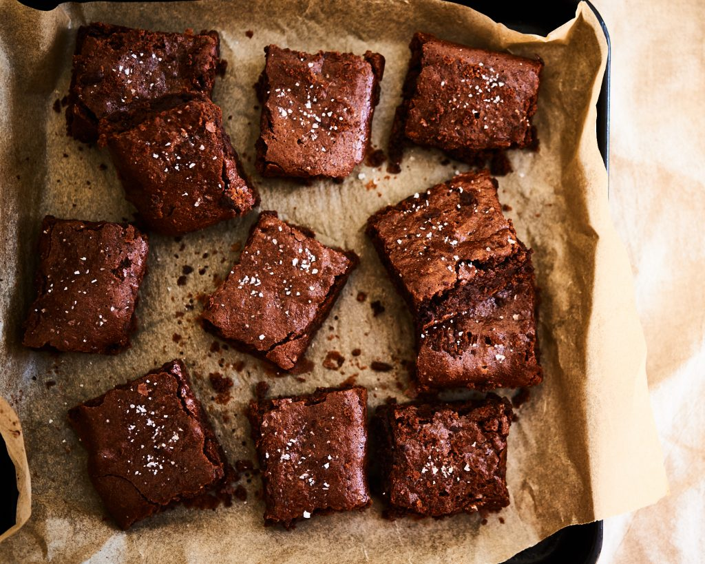 grain free tahini brownies